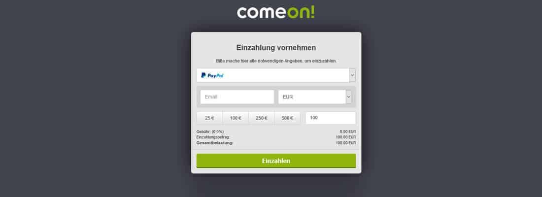 Common Einzahlung